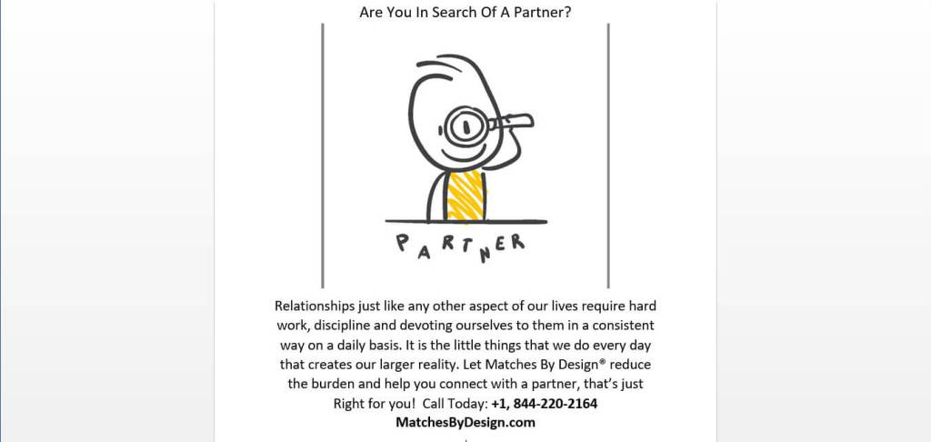 Are You In Search of a Love Partner? Matches By Design®