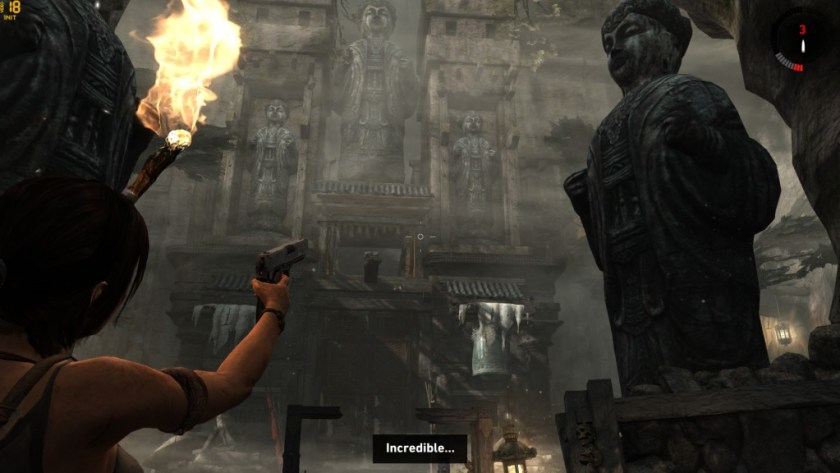 Tomb Raider's environments live up to Lara's awe.
