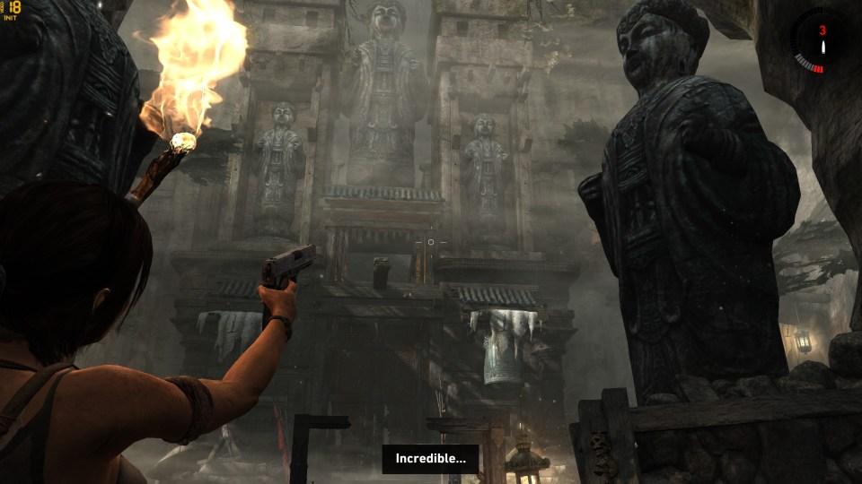 Tomb Raider's environments live up to Lara's awe.