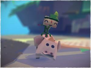 Tearaway - riding pig