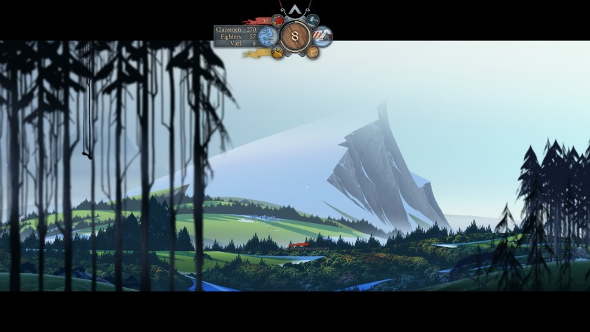 The Banner Saga's lovely overworld.