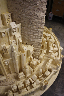 Minas Tirith (made out of matchsticks)