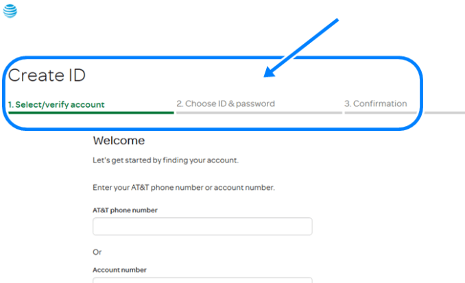 Create AT&T Online Account