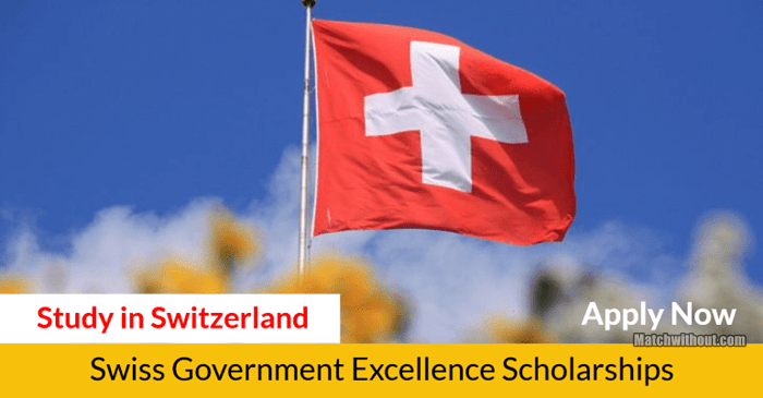 2021/22 Swiss Government Excellence Scholarships Application