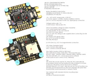 Flight Controller F405CTR – Matek Systems