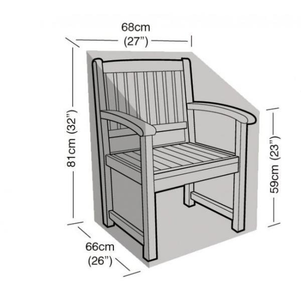 housse pour chaise avec accoudoirs 68 x 66 x 81 cm