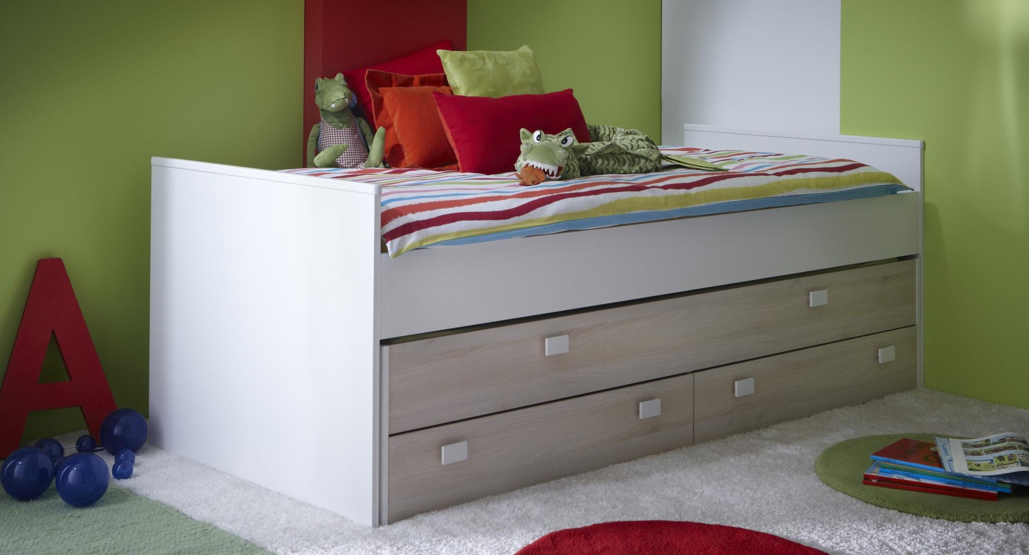 lit gigogne enfant avec tiroirs carno