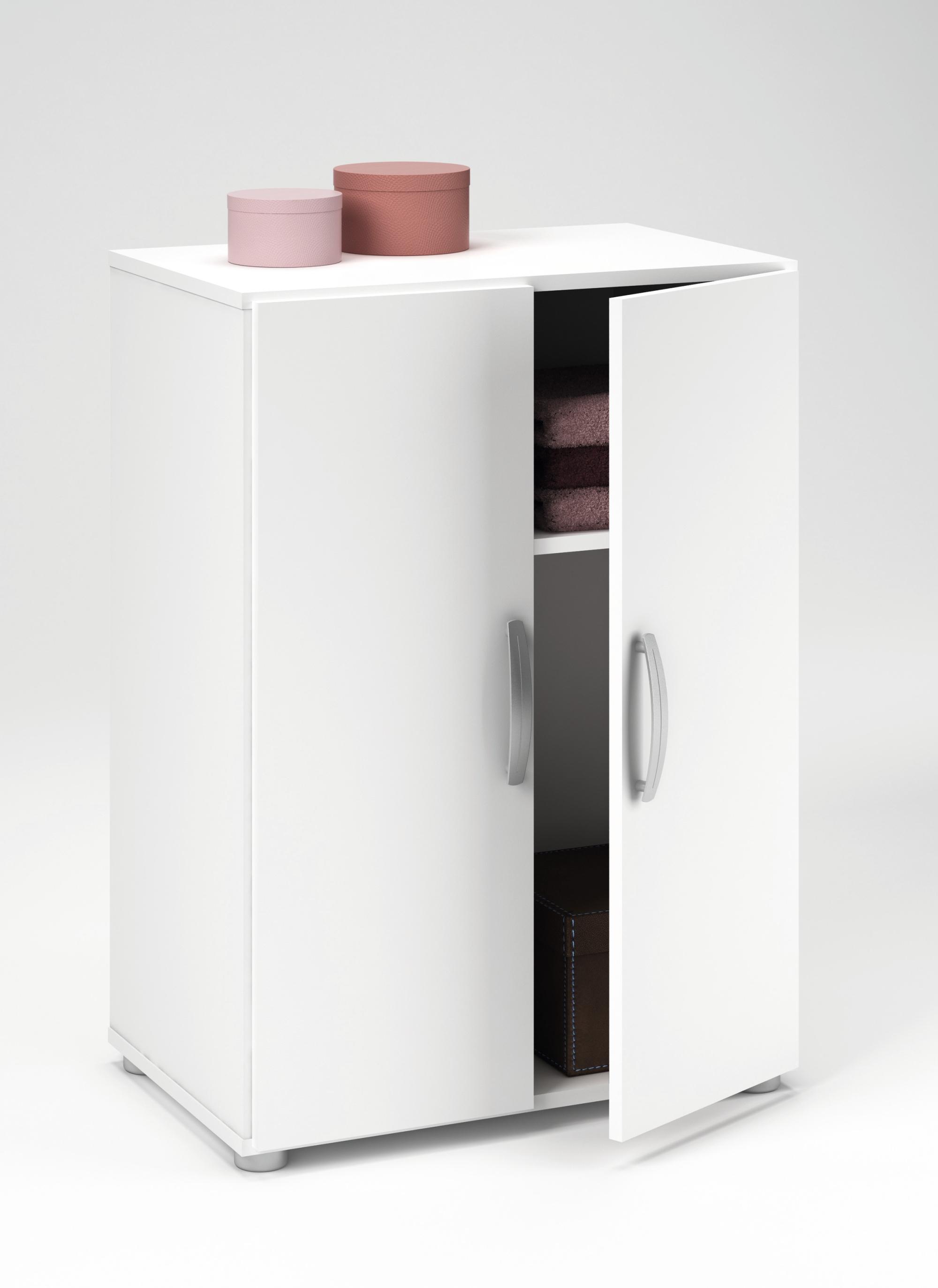 armoire basse de rangement contemporaine blanche curly