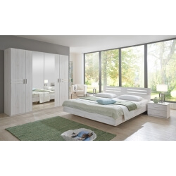 chambre adulte contemporaine chene blanc estonia