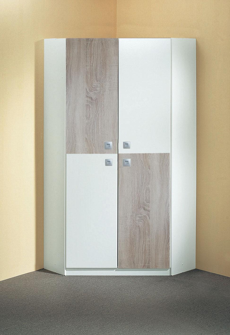 armoire d angle enfant contemporaine blanche chene ingrid matelpro