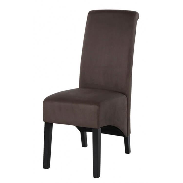chaise de salle a manger contemporaine en tissu gris fonce lot de 2 melisse