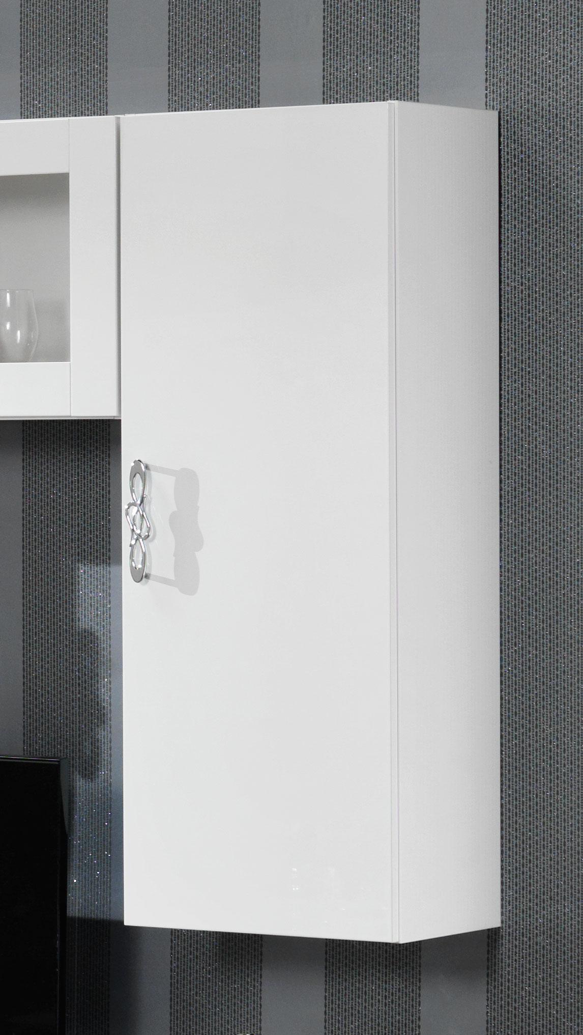 meuble de rangement suspendu design laque blanc horus matelpro