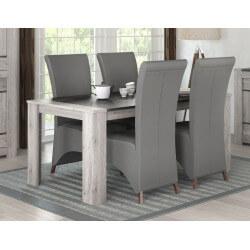 table de salle a manger contemporaine chene gris talisman