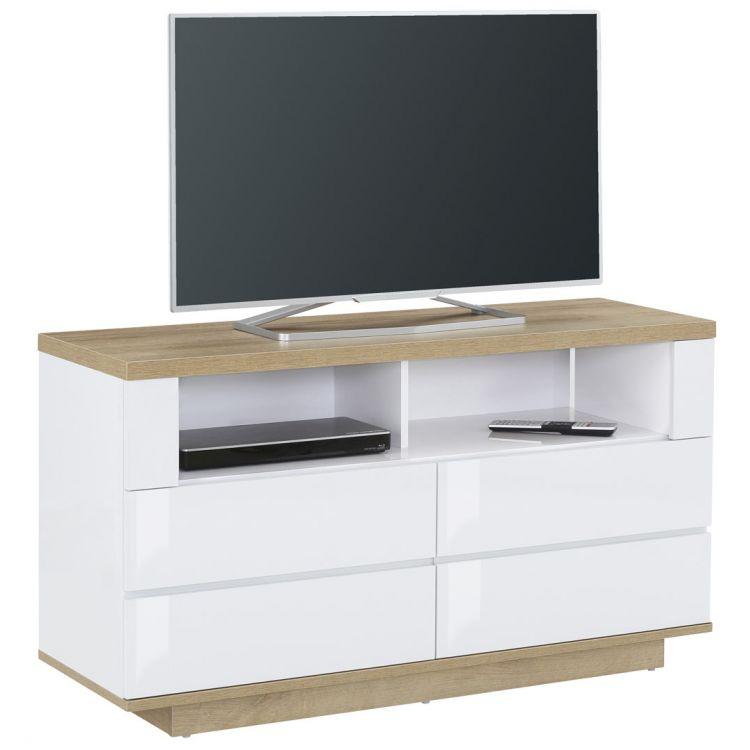 meuble tv contemporain chene blanc corso