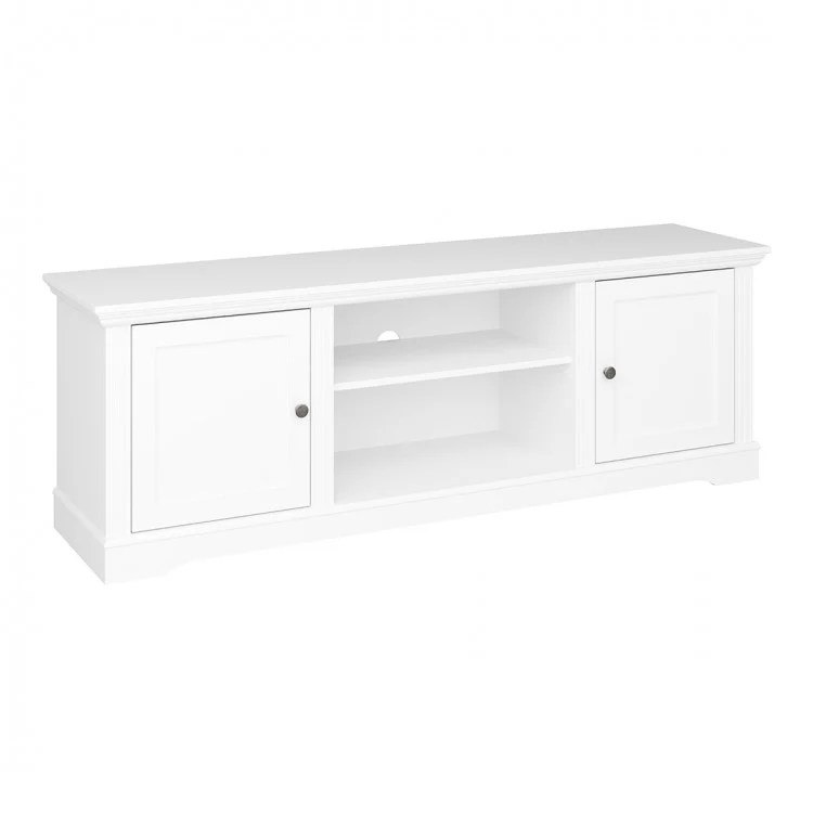 meuble tv blanc style campagne 160 cm wendy