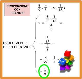 proporzioni con frazioni