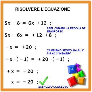 equazione scuola media