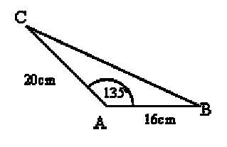Nel triangolo ABC in figura l'angolo in A misura 145