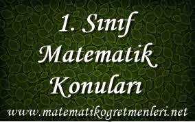2014-2015 Matematik 1. Sınıf Konuları
