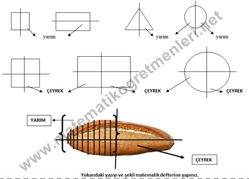 2 Sinif Yarim Ve Ceyrek Etkinlik Matematik Ogretmenleri