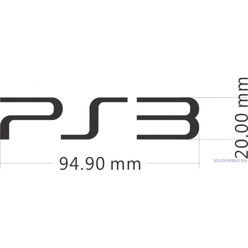Playstation 3 PS3 Label Sticker Badge Logo metal chrome