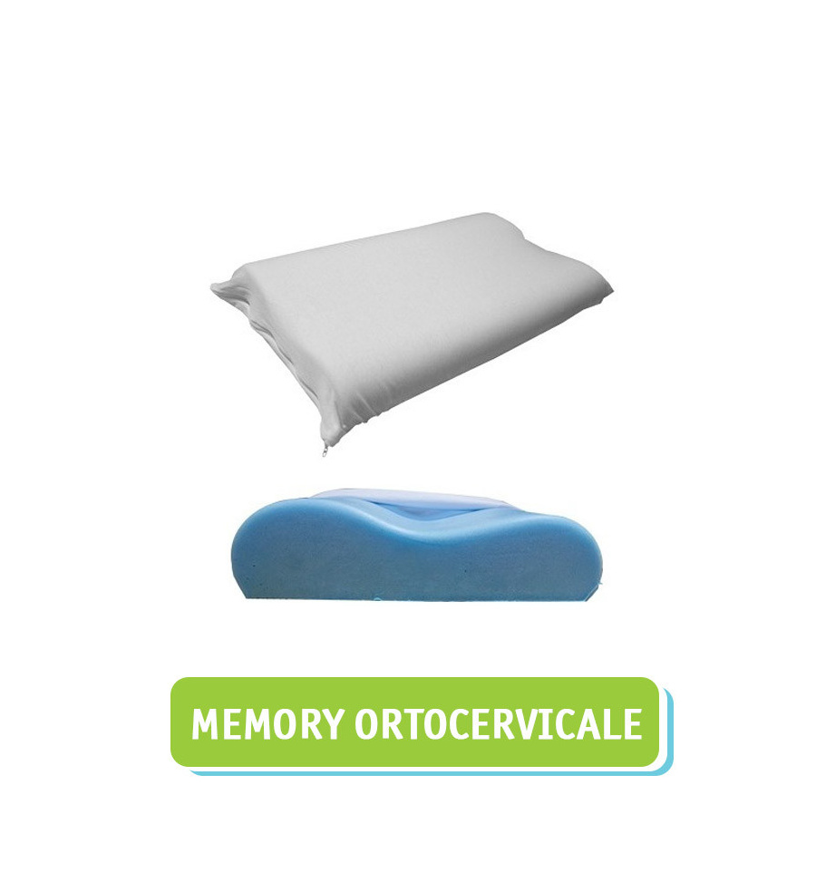 Cuscino per la cervicale in memory foam e polar gel