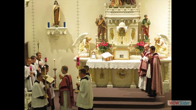Fr. Letourneau's First Solemn High Mass