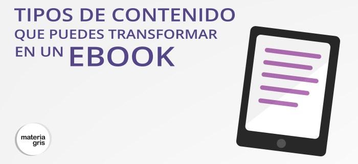 ebook es una pieza importante del marketing de contenidos