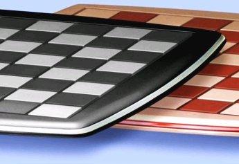 Tabuleiros de xadrez e damas - madeira metalizada