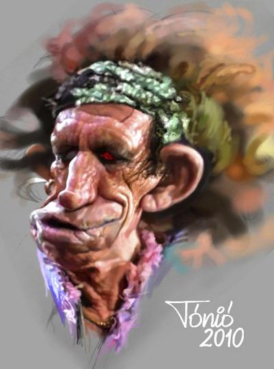 As incrveis caricaturas dos Rolling Stones criadas por