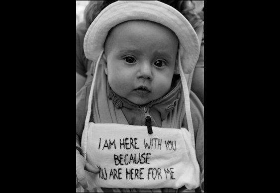 Bebê em manifestação do Occupy Wall Street