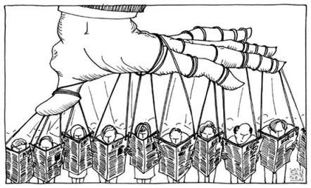 Manipulação dos jornais