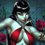 Draculina, a mulher vampiro da banda de rock Alkaline Trio