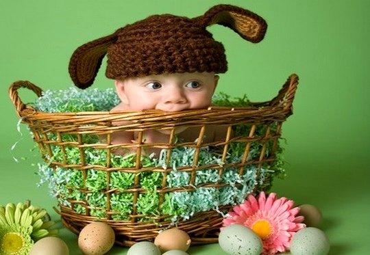 Criança no cesto