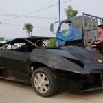 O Lamborghini Reventon de pobre construído na garagem de casa
