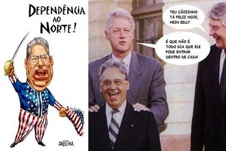 FHC cachorrinho de Bill Clinton