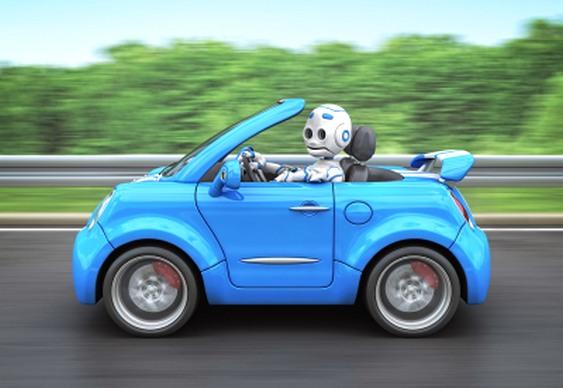 Robô dirigindo automóvel