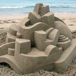 Os incríveis castelos de areia de um artista megalomaníaco
