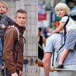 Suporte para transportar crianças nas costas na posição de mochila