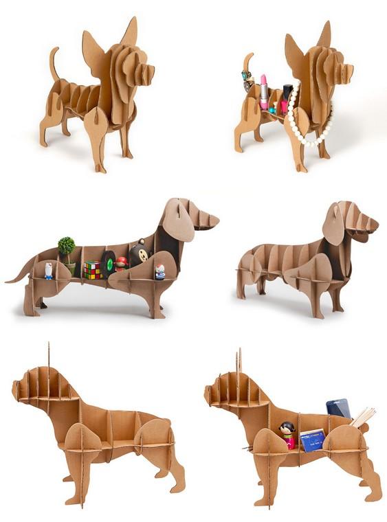Decoração artesanal com cãezinhos