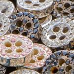 Botões de ouro com diamantes para camisas sociais de luxo
