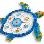 Tartarugas marinhas de metal para decorar casa de praia