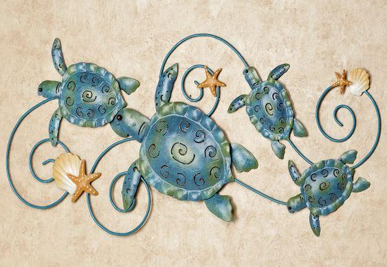 Bichos em decoração marinha