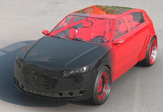 Automóvel elétrico de luxo
