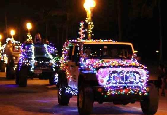 Desfile de jipes no Natal