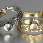 Par de alianças Sol & Lua para celebrar a dualidade divina