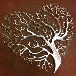 Árvore da Vida em forma de coração para irradiar o Amor