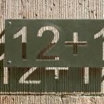 Placa de endereço 12+1 para quem tem fobia do número 13