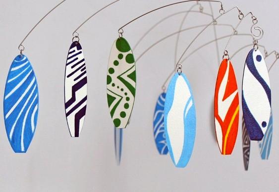 Decoração com pranchinhas de surf