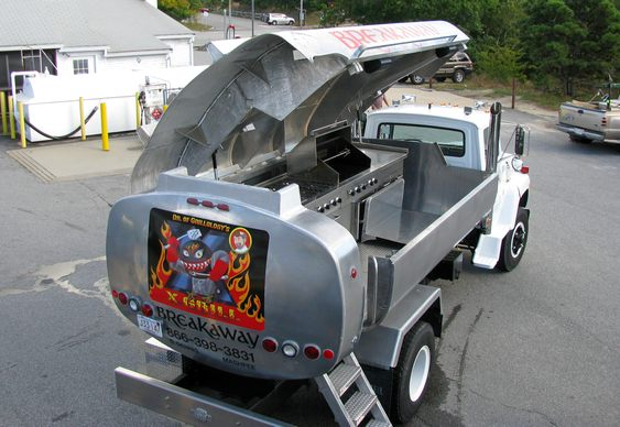 Food truck com churrasco